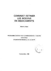 comment-estimer-besoins-medicament-1991-oms