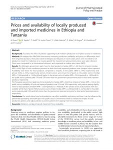 price_availability_locally_produced_medicines_ethiopie_tanzanie_2016