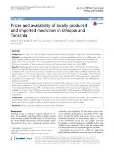 price_availability_locally_produced_medicines_ethiopie_tanzanie_2016