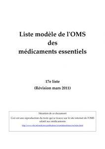 17ème liste modèle OMS  adultes version française - révisée en 2011