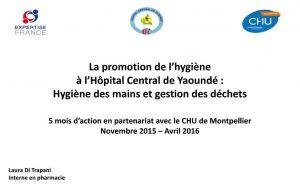 Promotion de l'hygiène à l'hôpital central de Yaoundé 2016