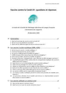Vaccins contre la Covid-19 : questions et réponses. Un texte de la Société de Pathologie Infectieuse de Langue Française à destination des soignants
